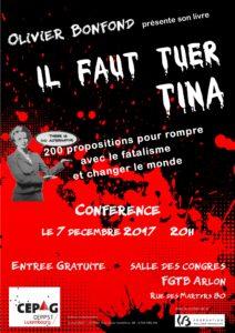 Conférence à Arlon @ Salle des Congrès Rue des Martyrs